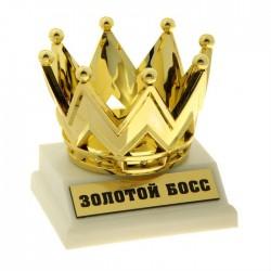 """Кубок-фигура корона """"Золотой босс"""""""