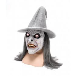 """Латексная маска на резинке """"Зомби в шляпе"""""""