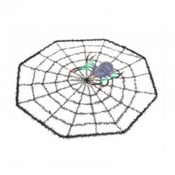 Паутина с цветным пауком (30*30)