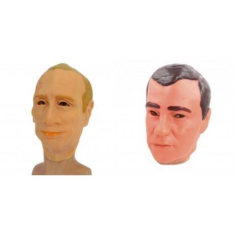 "Маска латекс (2в1) ""Путин, Медведев"""