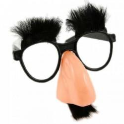 Очки-маска с носом (брови+усы) чёрные