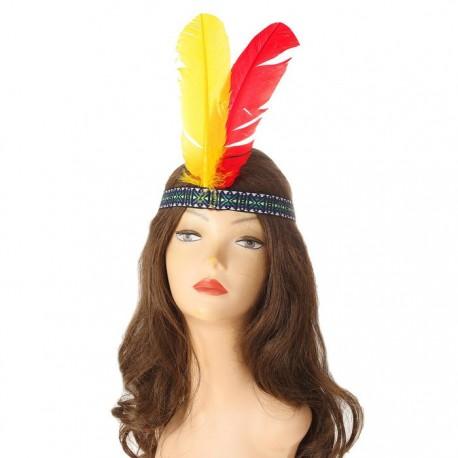 """Повязка на голову """"Перо индейца"""" цветные"""