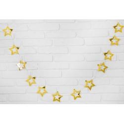 """Гирлянда """"Звёзды"""" 2,5 метра, цвет золото"""