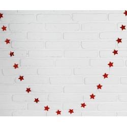 """Гирлянда """"Звёзды"""" 2м цвет: красный"""