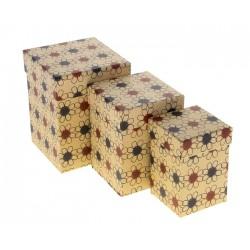 """Набор коробок 3 в 1 крафт """"Ромашки"""""""