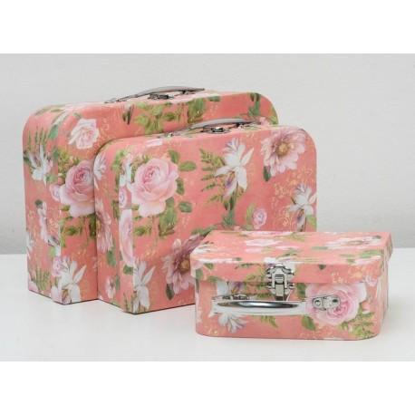 """Набор коробок 3 в 1 чемодан """"Весенние цветы"""""""