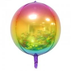 Сфера 4D разноцветный 55см