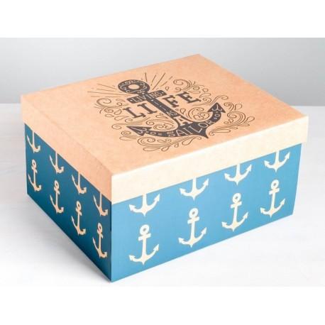 Коробка складная «Морская» 31,2 х 25,6 х 16,1 см