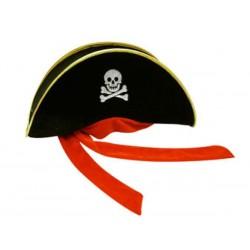 "Карнавальная шляпа пирата  "" Велюр простая"""