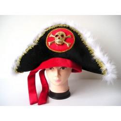 """Карнавальная шляпа пирата""""Люкс с черепом"""""""