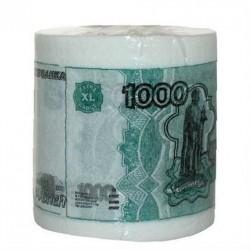 """Туалетная бумага прикол """"1000 рублей"""""""