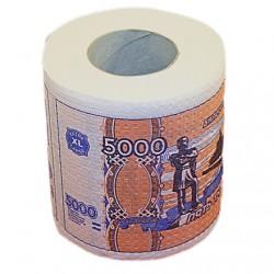 """Туалетная бумага прикол """"5000 рублей"""""""