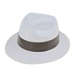"Шляпа пластик с кантом ""Белая"""