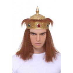 """Карнавальная шапка """"Корона с волосами"""""""