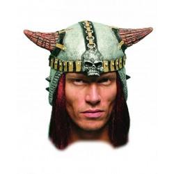 """Шлем латекс """"С рогами и волосами"""""""