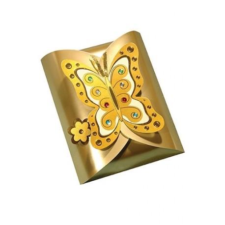 """Коробка """"С бабочкой"""" золото"""