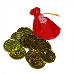 Монеты пирата в мешочке