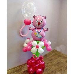 Мишка фольга с шарами