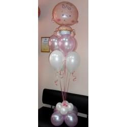 Свеча на подставке малыш+6 шаров