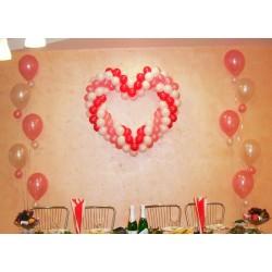 Сердце, 2 свечи с мал. шариками