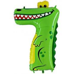 """Детская цифра """"7"""" Крокодил 36/91см"""