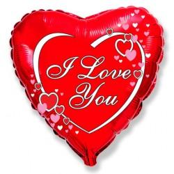 "Сердце 18/45см  ""I LOVE YOU""сбоку сердечки"