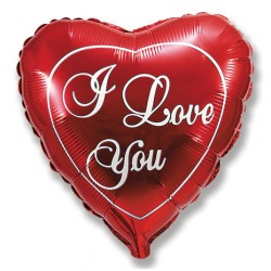"""Сердце 18/45см  """"I LOVE YOU"""""""