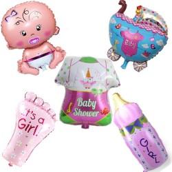 Геливые фигуры из фольги на рождение малыша