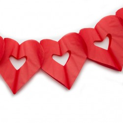 Гирлянда сердечки красная 4м
