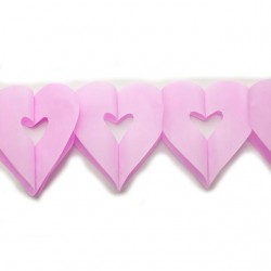 Гирлянда сердечки розовая 4м