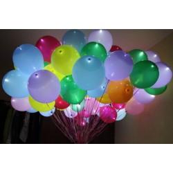 """Геливый шарик """"12""""светящийся 3D"""