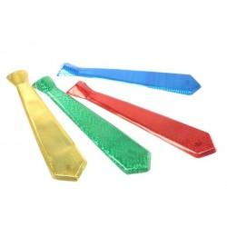 Галстук пластик голография длинный 1шт.