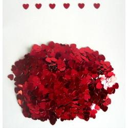 """Конфетти """"Сердца"""" красные 14гр (мелкие)"""