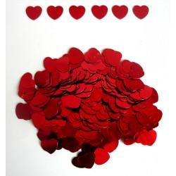 """Конфетти """"Сердца"""" красные 14гр (крупные)"""
