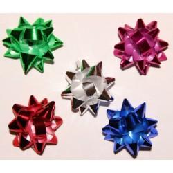 Подарочный бант-звезда на липучке d-4,4 см