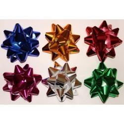 Подарочный бант-звезда на липучке d-7,6 см