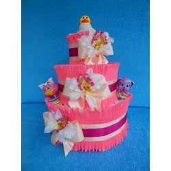 Торт из памперсов для девочки (ПМ-001930)