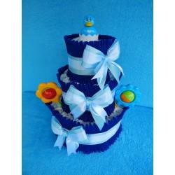 Торт из памперсов для мальчика (ПМ-001931)