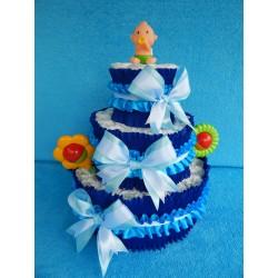 Торт из памперсов для мальчика (ПМ-002023)