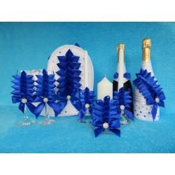 Свадебный набор из 5 предметов (синий)