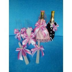 Свадебный набор из 4 предметов (розовый)
