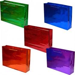 Подарочный пакет голография 45*33*10 гор.