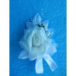 Бутоньерка роза (латекс) белая