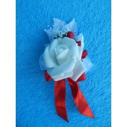 Бутоньерка роза (латекс) красная