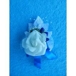 Бутоньерка роза (латекс) синяя
