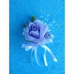 Бутоньерка роза (латекс) сиреневая