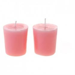 Свеча столбик (43*82мм) розовая