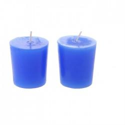 Свеча столбик (43*82мм) голубая