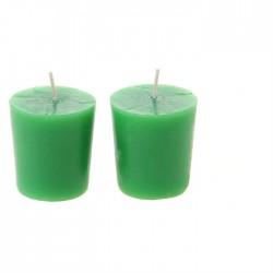 Свеча столбик (43*82мм) салатовая