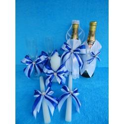 Свадебный набор из 4 предметов (синий)